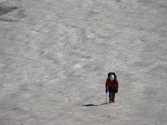 Rock Climbing Photo: Drudging it up the Skillet Glacier, Tetons, Wyomin...