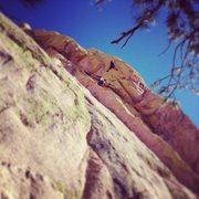 Rock Climbing Photo: Josh and Aminda climbing pitch 2.