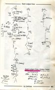 Rock Climbing Photo: Annotated Topo for Golden Years