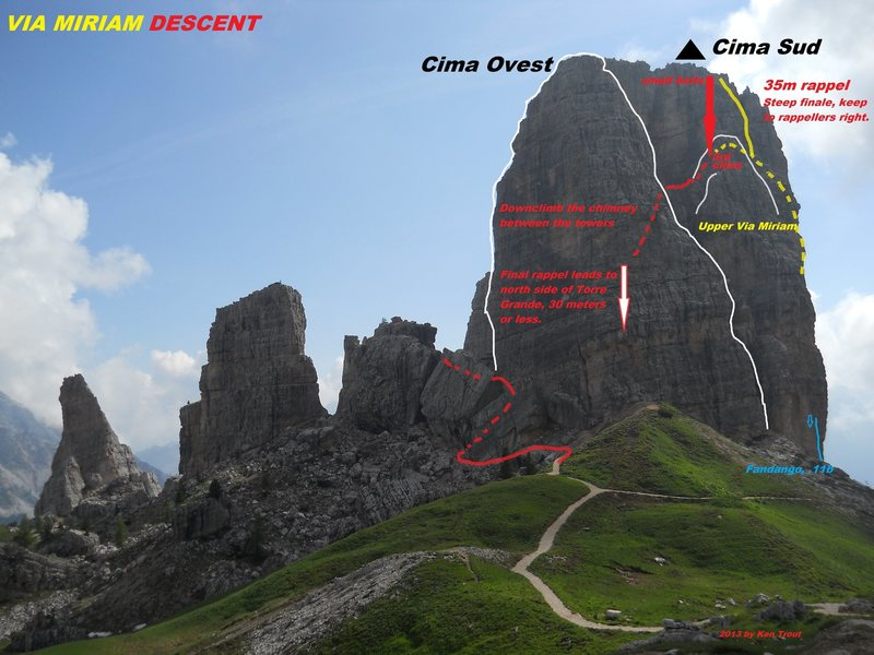 Rock Climbing Photo: Cima Ovest/Torre Grande Descent