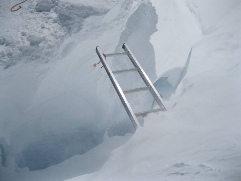 Fun crevasse crossing!