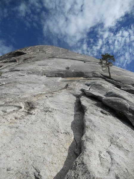 Rock Climbing Photo: The start of the Snake Dike route