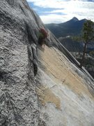 Rock Climbing Photo: This is the angle during the traverse in the first...