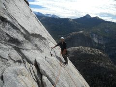Rock Climbing Photo: This is the angle of the rock on P2 I believe.