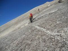 This is the angle of the rock after you unrope and walk the rest of the way to the top