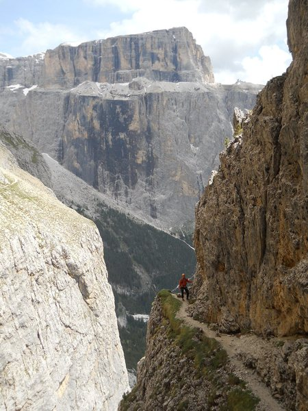 Rock Climbing Photo: Piz Pordoi and the via ferrata part of the hike of...