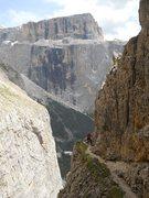 Rock Climbing Photo: Piz Pordoi and the via ferrata part of the hike of...