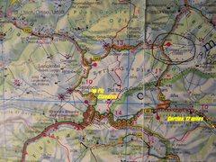Rock Climbing Photo: Sella Approach Map
