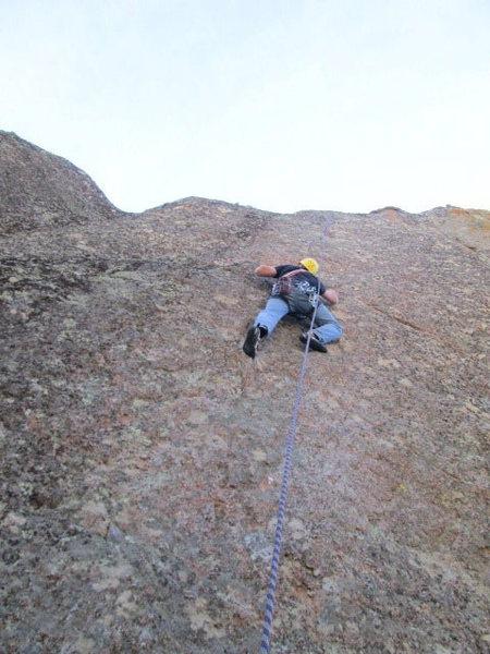 Rock Climbing Photo: Jim taking a lap
