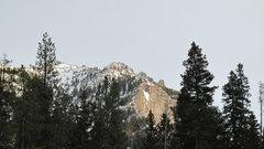 """Rock Climbing Photo: Far away shot of legendary """"Winter Dance&quot..."""