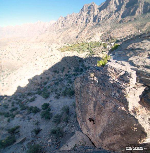 Rock Climbing Photo: Larry Michienzi about to send