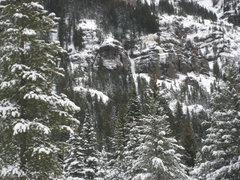 "Rock Climbing Photo: ""Hangover"" and surrounding, ethereal pos..."