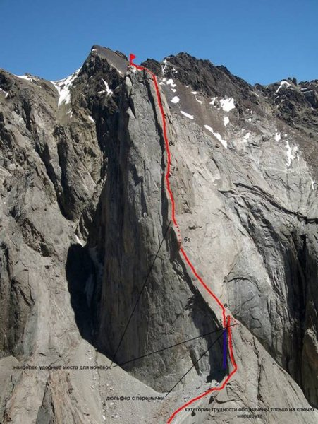 Beta Picture of Perestroika Crack on Peak Slesova 4240m