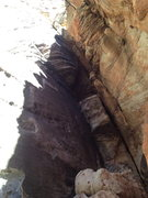 Rock Climbing Photo: first pitch of olive oil and the start if the rout...