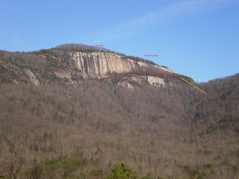 Rock Climbing Photo: View from the East Gate Road.