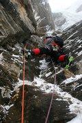 Rock Climbing Photo: P2 relitivly serious climbing on crappy gear due t...