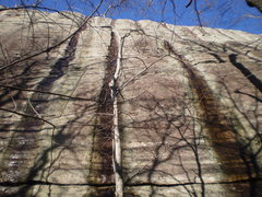 Rock Climbing Photo: The view from the trail as you reach the wall.