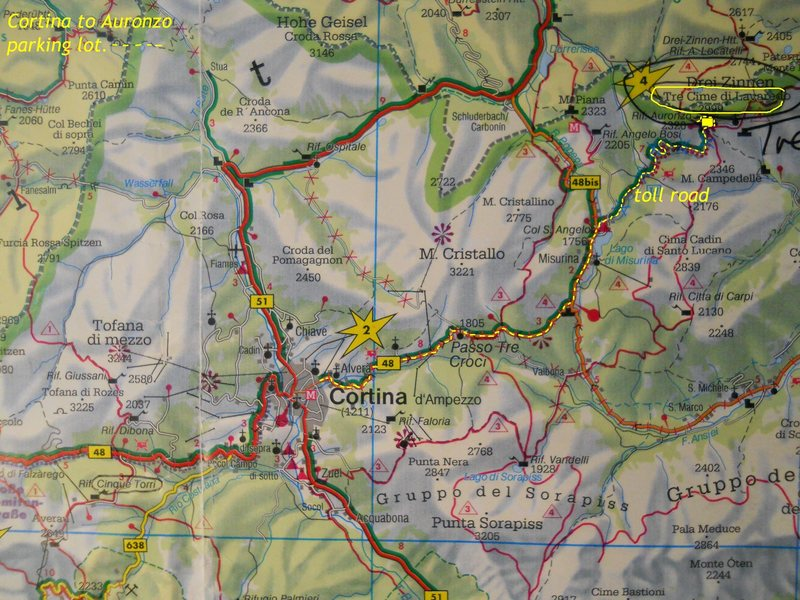 Rock Climbing Photo: Road-map to Tre Cima/Drei Zinnen