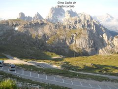 Rock Climbing Photo: Morning @ Rifugio Auronzo.  View of Toll Road to M...