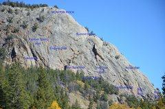 Rock Climbing Photo: Bird's Nest on the lower right.