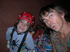 Rock Climbing Photo: in the cave with my son 05