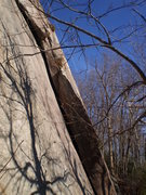 Rock Climbing Photo: The obvious left-facing offwidth corner. Bring you...