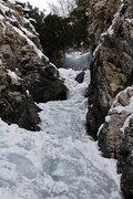 Rock Climbing Photo: Upper section of Willard Canyon Falls 12/18/13
