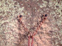 Rock Climbing Photo: New Vertigo rap anchor