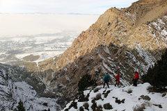 Rock Climbing Photo: Willard Bay inversion