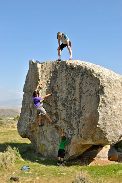 Three generations, on the rocks!
