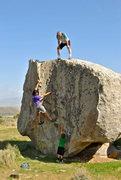 Rock Climbing Photo: Three generations, on the rocks!  Backyard Boulder...