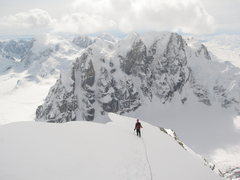 Rock Climbing Photo: Rooster Comb from summit of Peak 11,300