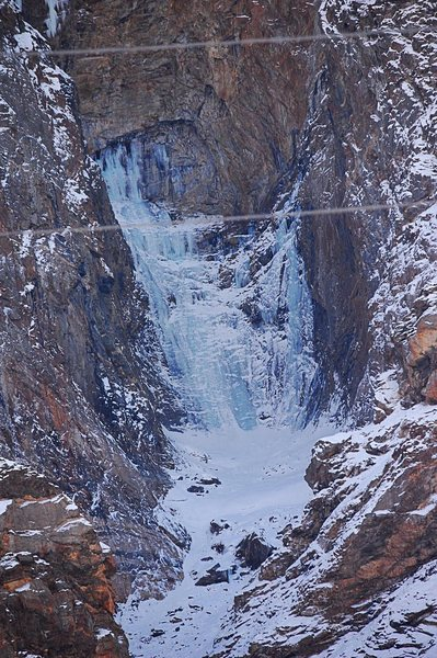 Huge Ice fall, Pamir Highway.