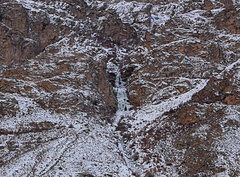 Rock Climbing Photo: Ice fall in Roshtqal'a District, 5 minute drive fr...