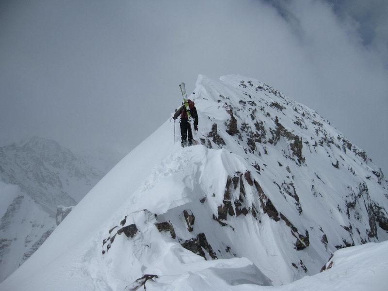 Elk mtns ski descent