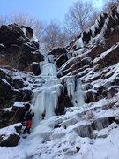 Rock Climbing Photo: Tanya Chupa climbing Main Gully Left, Dec. 18 2013