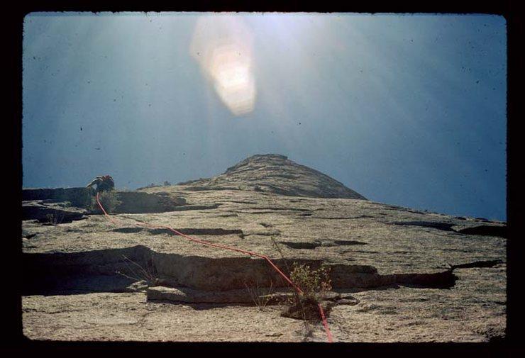 Rock Climbing Photo: 1978 ascent by Stu Childre and David McDonald.