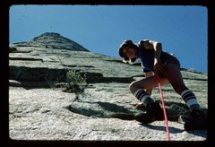 Rock Climbing Photo: 1978 ascent by Stu Childre and David McDonald.