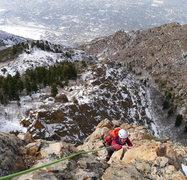 Rock Climbing Photo: Winter ascent of Geurt's Ridge 12/18/2013