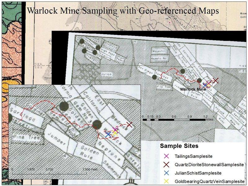 Rock Climbing Photo: Geo-referenced maps and Sampling Plan