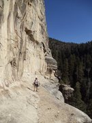 Rock Climbing Photo: This is the approach ledge to the upper (3rd) tier...
