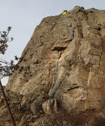 Rock Climbing Photo: Sleight of Hand follows the crack/corner up to and...