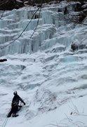 Rock Climbing Photo: Looking up waterfall W3