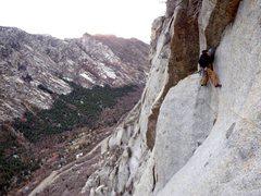 Rock Climbing Photo: Time to downclimb huh?