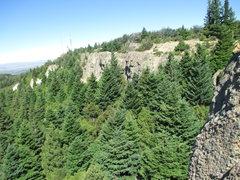 Rock Climbing Photo: Some of the crags at Piedras Blancas