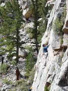 Rock Climbing Photo: John Slezak working on the FA of Brother Toad....