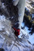 Rock Climbing Photo: Pat McCarthy coming up to the belay on top of the ...