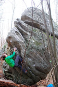 "Rock Climbing Photo: Brad Mathisen on the FA of ""Mother Mary"""