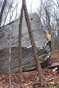 """Rock Climbing Photo: Aaron James Parlier on the FA of """"Divine Aret..."""