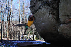 "Rock Climbing Photo: Aaron James Parlier on the FA of ""King Coal&q..."